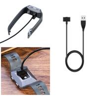YENI Manyetik USB Şarj Data Fitbit İyonik Şarj Kablosu Şarj usb kablosu Ile Yedek Şarj USB Şarj Çip 1 m 30 cm