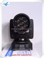 8pcs / lot 4 in1 führte bewegliches Hauptlicht 7x12w des lauten Summens