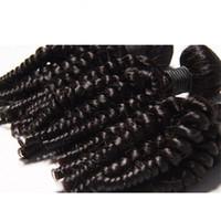 Elibess-- волос девственница 3 Связка Тетенька Фуого Curl 8А Бразильский 100% Необработанные человеческие волосы ткет Фого Плетение Extensions Bouncy Curl свободного корабль