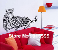 "Free Shipping: Transparent PVC Wall Decals"" Cheetah Leopa..."