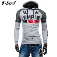 Wholesale- T- bird 2017 Hoodies Brand Men Music Letter Printi...