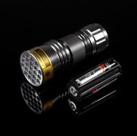 Nuova lampada UV in alluminio ultravioletto 21 LED torcia mini Blacklight in alluminio con lampada freeshipping