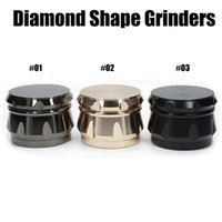 Diamond Shape Grinders Chamfer Side Concave Herb Grinders 63...