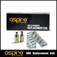 aspire BVC clearomizer ETS CE5 ce5s ve K1 atomizör% 100 orijinal Aspire BDC Bobinler 2.1ohm 1.8ohm 1.6ohm