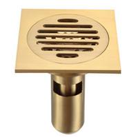 """Dreno de assoalho do chuveiro do banheiro com filtro removível, bronze lustrado 4 """""""