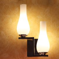 Modern Two Glass Bowling Bedroom Bedsides wall lights White ...