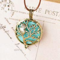 Collana del pendente dell'albero dell'albero di fragranza del profumo di Locket del profumo della collana di Aromatherapy di DIY per il regalo dei monili della collana del diffusore delle donne