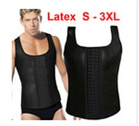 S- 3XL Plus size Sport Hot Shapers Vest Latex Waist Cincher ...