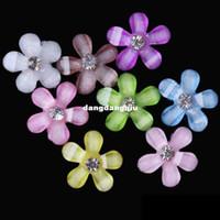 Toptan-2014 YENİ! ücretsiz kargo 10mm güzel küçük çiçek reçine flatback boncuk parlak elmas yapay elmas tırnak
