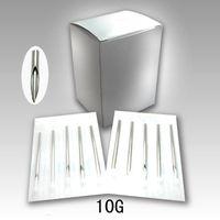 Wholesale-100pcs sterilizzato monouso in acciaio inox penetranti del corpo aghi 10 Gauge attrezzature 10G del tatuaggio di trasporto