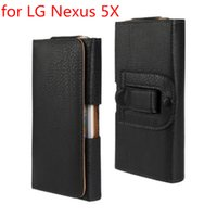 Clip da cintura più nuovi caso di cuoio della vita Holster PU all'ingrosso della copertura del sacchetto di caso per il LG Nexus 5X Bag Free Phone