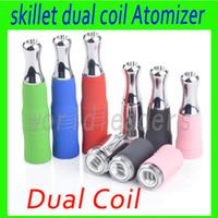 2016 dual coils Skillet Atomizzatore di alta qualità Skillet Atomizzatore di ricambio testa, skillet vaporizzatore bobina Cera serbatoio vaporizzatore erba secca vaporizzatore