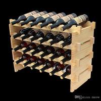Деревянные винные стойки DIY собирают винные полки Древесины подходят для гостиничного погреба бар Club Home