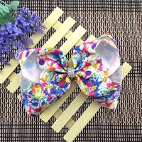 8 Inch Rainbow Jojo Bows Big Cheer Hair Bows Magical Unicorn...