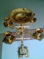 a peça central de cristal do casamento do carrinho de flor do cristal da tira 1235 arma o candlelabra, suporte de vela de cristal acrílico