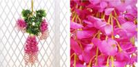 1,6 Meter lange eleganten Kunstseide-Blumen Glyzinierebe Rattan für Hochzeit Mittelstücke Dekorationen Bouquet Garland Startseite