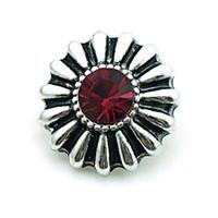 Mode Noosa 18mm Snap Boutons Rétro Rouge Alliage Fermoirs Gingembre Interchangeable DIY Pendentif Collier Bijoux Accessoires NKC0065