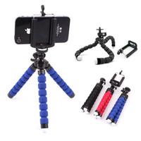 Jenerik Mini Ahtapot Esnek Tripod Standı Montaj Tutucu Pod Dağı Monopod Kabarcık Özçekim Standı Adaptörü iphone 6 6 s Samsung S6 Kenar Kamera