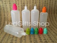 Бесплатная доставка 120 мл электронной жидкости бутылки пластиковые бутылки детская крышка длинный тонкий наконечник пластиковые бутылки капельницы для электронных сигарет пустые бутылки