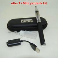 السجائر الإلكترونية الأنا بطاريات كاتب كيت Ego-T 650 900 1100 مللي أمبير بطارية مصغرة protank 1 المرذاذ vape الأقلام حالة أطقم عالية الجودة dhl