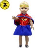Boneca American Girl Roupas Mulher Maravilha Traje Cosplay Roupas de Boneca para 18 polegada Bonecas Bonecas de Bebê Nascido Acessórios MG-038