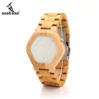 2018 moda BOBO BIRD Digital Bamboo Men Assista Night Watch Multi-Função de alta qualidade relógio com display LED LED data única. Presente dos homens