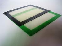 Commercio all'ingrosso Popolare platino curato Food grade piccolo formato 102x127mm in fibra di vetro antiaderente olio chiazza di petrolio bho tampone di cera dab silicone