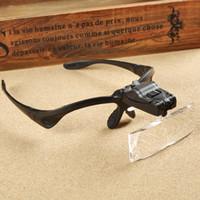 Sprzedaż hurtowo-szklana naprawa oka Lupa LED Light Narzędzia 1.0x 1.5x 2.0x 2.5x 3.5x Okulary powiększenia Lupa Soczewki optyczne 9892b