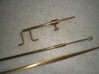 3 개의 PC Brass Luthier 도구, 사운드 포스트 세터 포함 리트리버 포스트 게이지