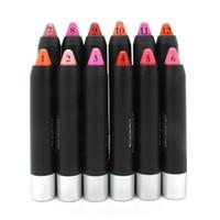 Yeni 12 Renkler Ultra-nemlendirici Ruj Kalem Styria YCID Su Geçirmez Rujlar Giymek Kolay Dudak Sopa Kozmetik Marka 12 adet / grup