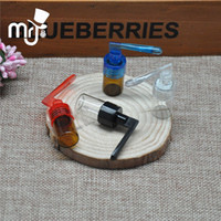 2pcs Glass small bottle pill box snuff snorter bottle with s...