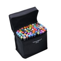 60 Colors Markers pen Brush professional 2 heads painted tou...