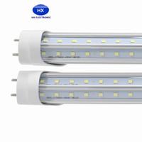 V-образный 4ft 5ft 6ft 8ft Cooler двери водить трубы T8 G13 R17D светодиодные трубы двойных бортах SMD2835 Светодиодные лампы дневного света AC85-265V UL DLC