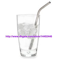 """Envoi gratuit 200pcs / lot en acier inoxydable de paille en acier potable Straws 8,5"""" 10g réutilisable ECO métal potable Straw Bar Drinks Stag Party"""