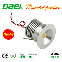 LED Downlight Bridgelux Chip Wasserdicht IP65 IIsolation Treiber Dimmable LED Kabinett Licht 3 Watt Mini Lampe 25mm 6 teile / satz Neuer Entwurf