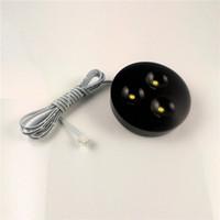 Surface noire LED Downlights Dimmable 12V LED Plafonniers pour Sous Cabinet Livraison gratuite