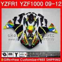 Carrosserie jaune noir pour YAMAHA YZF 1000 R 1 YZF-1000 YZF-R1 09 12 Carrosserie 85NO19 YZF1000 YZFR1 09 10 11 12 YZF R1 2009 2010 2011 2012 Carénage