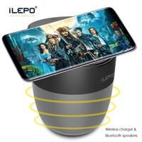 Altavoz inalámbrico Bluetooth 4.0 Cargador inalámbrico Barra de sonido portátil Compatibilidad con tarjeta TF Tarjeta de cine en casa Altavoces de sonido envolvente