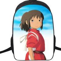 Ruhların kaçışı sırt çantası Ogino chihiro sırt çantası Filmi schoolbag Karikatür sırt çantası Spor okul çantası Açık gün paketi