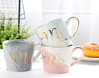 2018 Mug Marble Pattern And Ceramic Cup Gold Letter Creative...