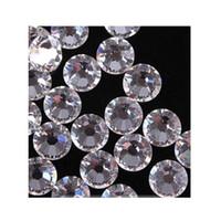 Wholesale-120 Stück Flatback ss20 DMC klar Hot Fix Strass glänzende Kristalle Strass Borte für Kleidung Stiefel Taschen Wärmeübertragung Hotfix