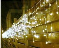 5M 200LEDs 조명 깜박이 레인 LED 칙칙한 램프 커튼 크리스마스 가정 정원 축제 흰색 110v - 220v EU 영국 미국 AU 플러그