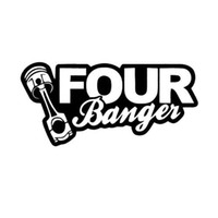 Funny 4 bangers Car Sticker Decal Vinyl For JDM Illest Race ...