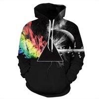 Wholesale- Men Women 3d Sweatshirts Print Pink Floyd Sunligh...