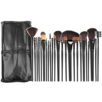 Make-up-Pinsel bilden Pinsel-Bürsten 24pcs Professionelle kosmetische Bürsten-Kit Nylonwolle PU-Leder Weiche Paket Eyeshadow Foundation Shade Tools
