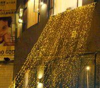 4 m x 3 m 400 LED Cortina de Luz Corda Natal Festa de Casamento de Natal Decoração Romântica Decoração Do Feriado Do Flash Cordas Luzes Da Lâmpada de Fadas
