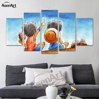 5 Panel Hanging Japanese anime Canvas Art Room Posters Print...