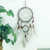Gray Lovely Dream Catcher With Feathers Car Home Wall Hangin...