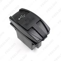 Auto / Motorrad / Bus-Schalter Lasergeätzte 12V-24V Dual-USB-Ladegerät mit blauem LED-Licht für Artikelnummer: 2113