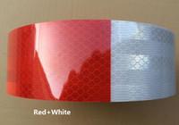 Reflexstreifen des roten und weißen reflektierenden Aufklebers hohen Lichtes für Auto-LKW Van Car Motorcycle Traffic Signal